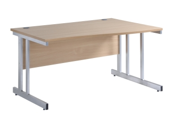 Momento Right Hand Wave Desk with Cantilever Leg