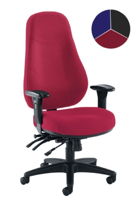 Cheetah fabric heavy duty task chair