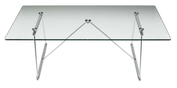 Elite Silver Rod Rectangular Coffee Table