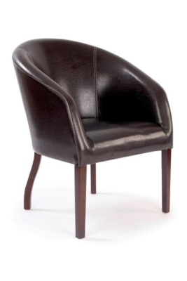 Baynton single seat curved armchair