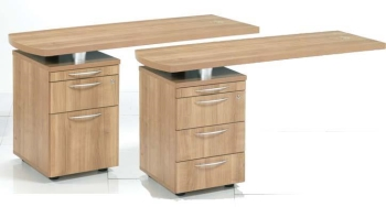 Aura Side Return 2 or 3 Drawer Pedestal