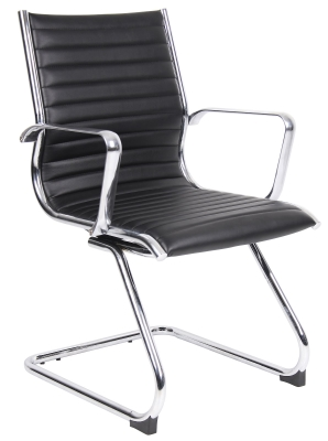 Bari Contemporary Executive Leather Faced Visitor Chair