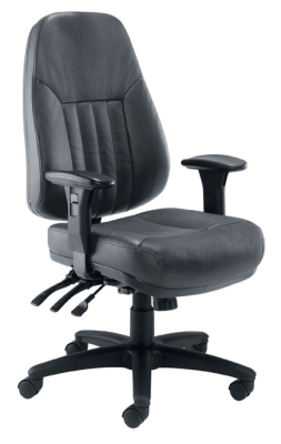 Panther heavy duty black leather task chair