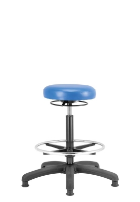 Upholstered High Stool with Footring