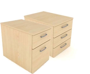 Elite Low Mobile Pedestal with 2 or 3 Drawers