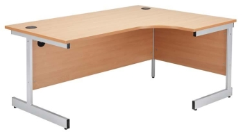 Raynsford R/H crescent workstation with standard cantilever legs