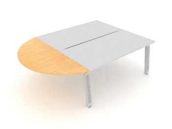 Linnea Bench Curved Extensions without screen
