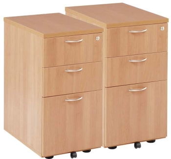 Raynsford desk high pedestal 600mm or 800mm deep with 3 drawers