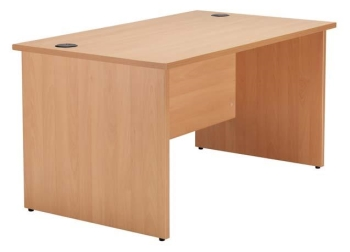 Raynsford rectangular workstation with panel end legs