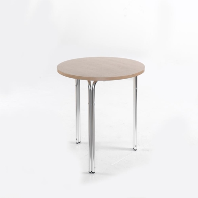 Nice Aluminum Stacking Round Cafe and Bistro Table