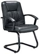 Casino black leather boardroom chair