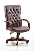 Chesterfield Traditional Leather Faced Executive Chair