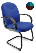 Alva Fabric Cantilever Framed Visitor Armchair with Sculptured Back