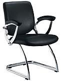 St Moritz black leather boardroom chair