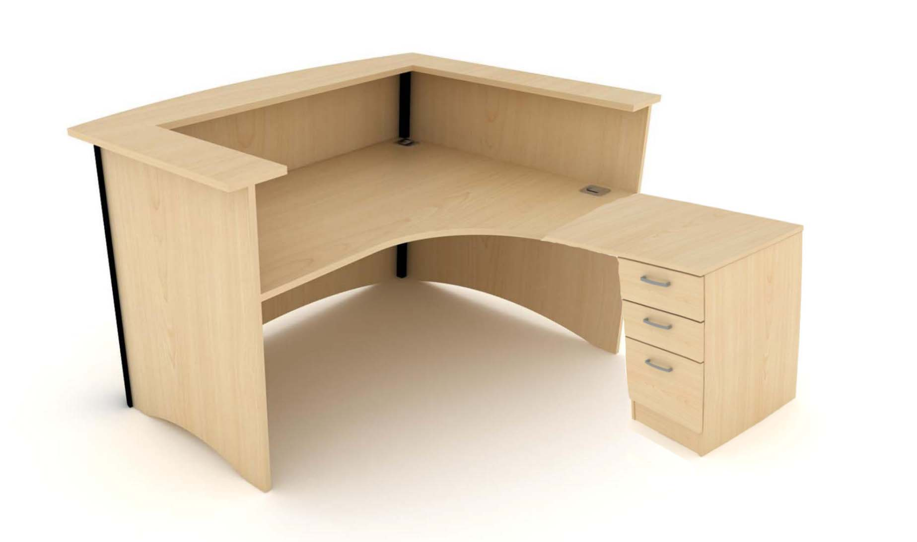 Elite bow fronted reception desk package office for Reception furniture