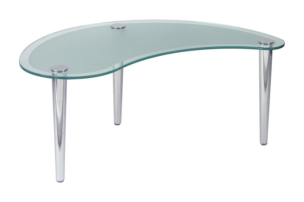 kidney shaped frosted glass coffee table office furniture warehouse