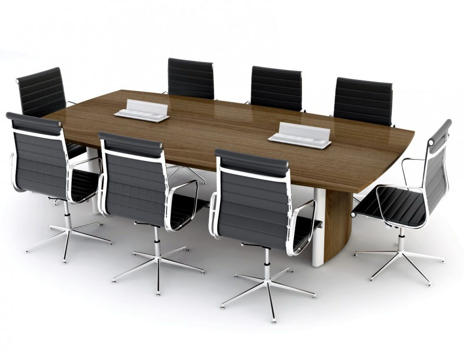 Elite Person Aerofoil Boardroom Package - 6 person conference table