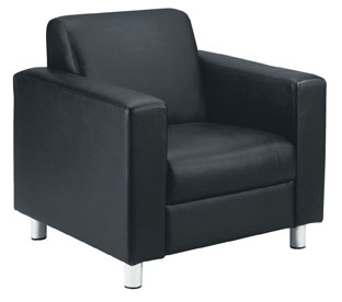 iceberg single seat reception sofa in black leather office