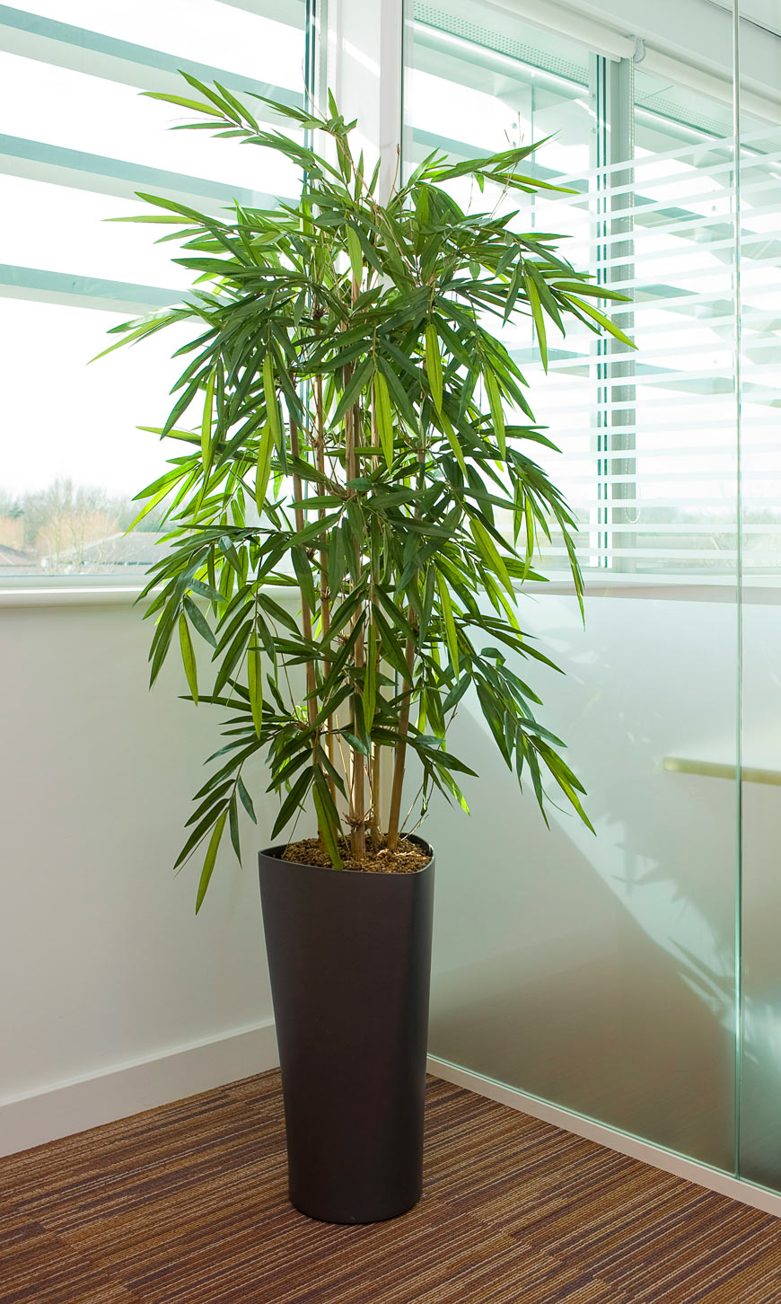 5ft artificial bamboo in delta pot office furniture warehouse