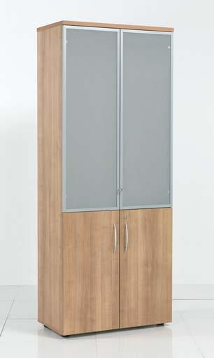 Aura High Wooden Cabinet With Glass Doors Office Furniture Warehouse