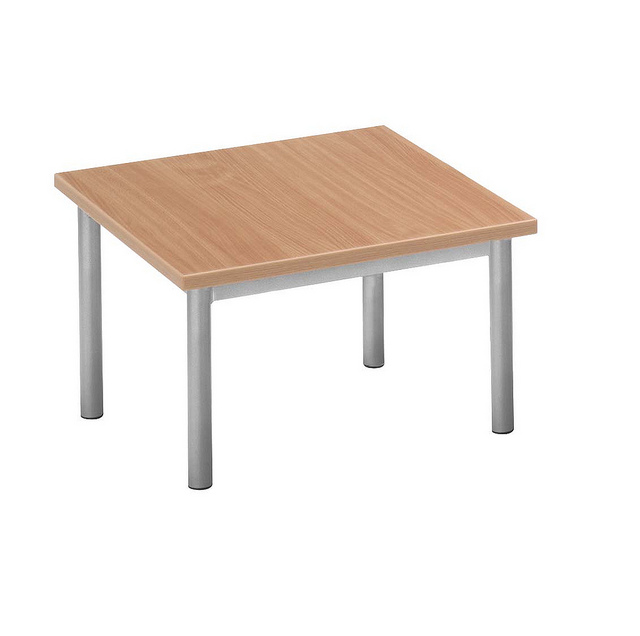 economy square wooden coffee table in office canteen furniture