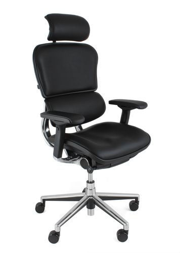 ergohuman ergonomic leather office chair with headrest office furniture warehouse. Black Bedroom Furniture Sets. Home Design Ideas