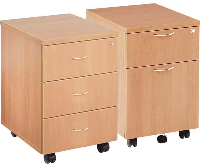 Raynsford Under Desk Low Mobile Pedestal With 2 or 3